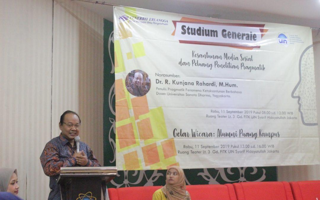 Cermati Ujaran di Medsos, SG TBSI FITK Gelar Studium General Kesantunan Bermedsos