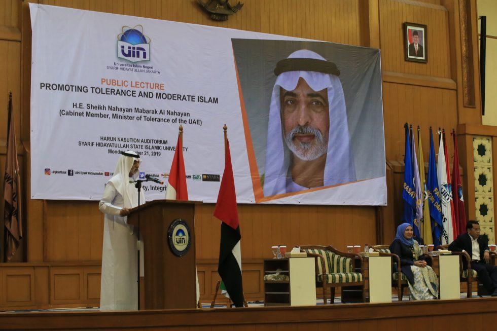 Menteri Toleransi Uni Emirat Arab Sampaikan Kuliah Umum di UIN Jakarta