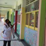 Stop Sebaran Covid19 di Kampus, UIN Jakarta Maksimalkan Penyemprotan Disinfektan