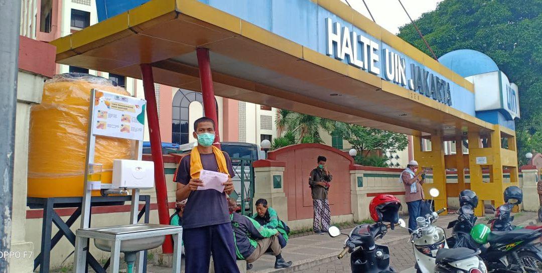 UIN Jakarta Dapat Bantuan Torn Portabel Air Pencuci Tangan