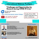 Puslitpen UIN Jakarta holds webinar on research challenges and opportunities during Covid-19 crisis