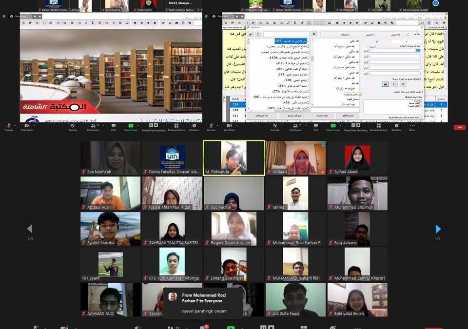 FDI Students learn the use of maktabah syamilah